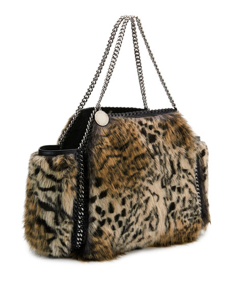 010c1048e7 Stella McCartney Small Falabella Snow Cat Fur Free Fur Reversible ...