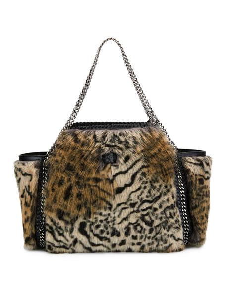 5a5a4a4105e9 Stella McCartney Small Falabella Snow Cat Fur Free Fur Reversible ...