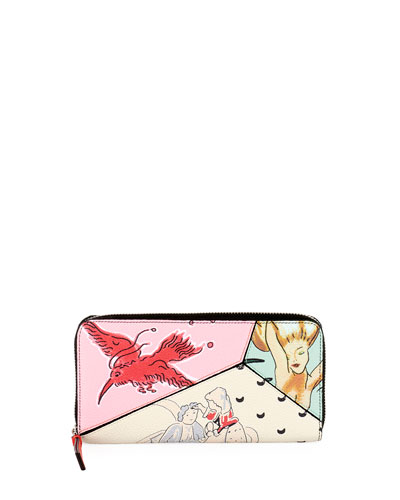 x Paula's Ibiza Puzzle Zip-Around Wallet