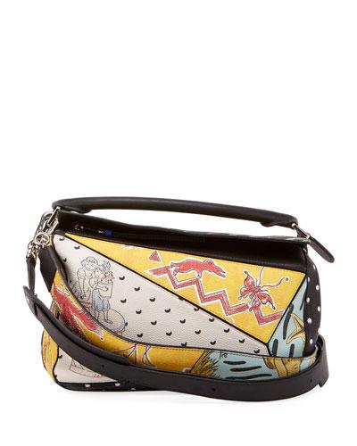 x Paula's Ibiza II Patchwork Satchel Bag