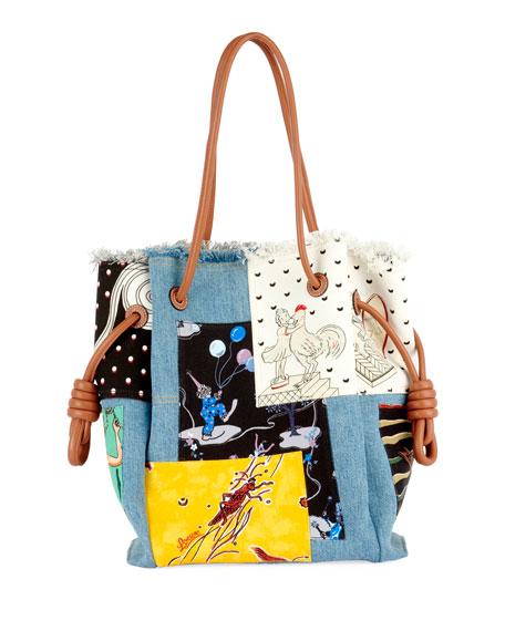 aefe88c669e0 Loewe x Paula s Ibiza II Flamenco Knot Patchwork Tote Bag