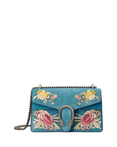 Gucci Dionysus Small Suede Floral Shoulder Bag