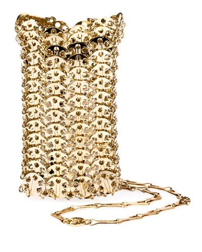 Iconic Mini Brass Link Chain Shoulder Bag