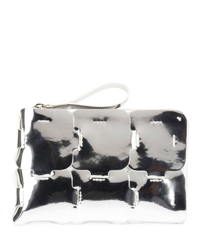16#01 Mirror Zip Clutch Bag