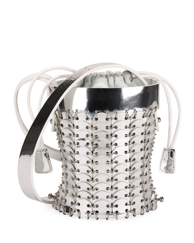 14#01 Chain-Link Mini Bucket Bag  Silver