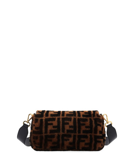 Fendi Baguette FF Sheepskin Shoulder Bag 21a935d90780a