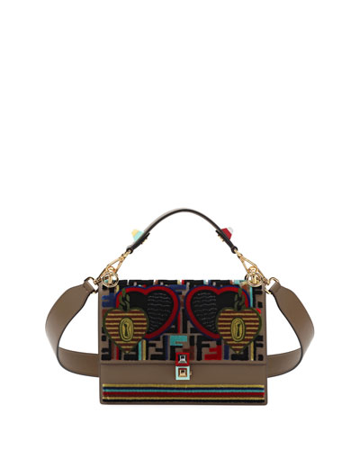 Embroidery Tappetino Kan I Shoulder Bag