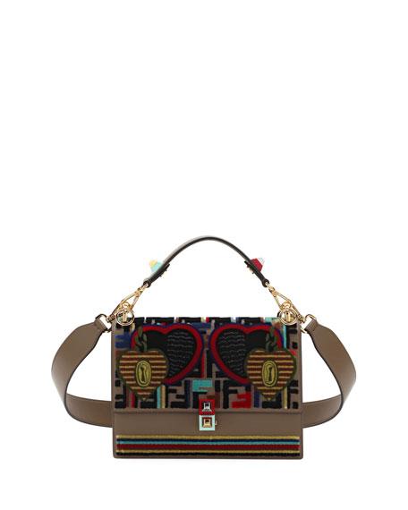 18c03ed59e Fendi Embroidery Tappetino Kan I Shoulder Bag