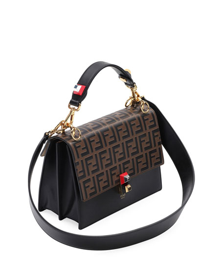 Kan I FF Embossed Shoulder Bag