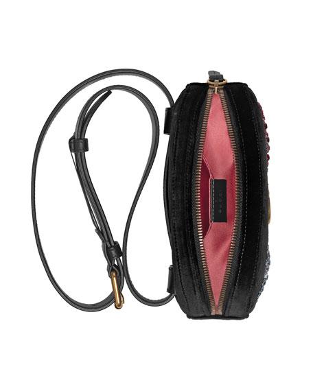 66fa0e713ff Gucci GG Marmont 2.0 Small Velvet Belt Bag