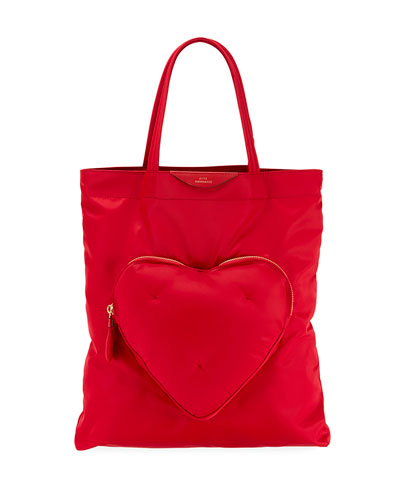Chubby Heart Nylon Tote Bag