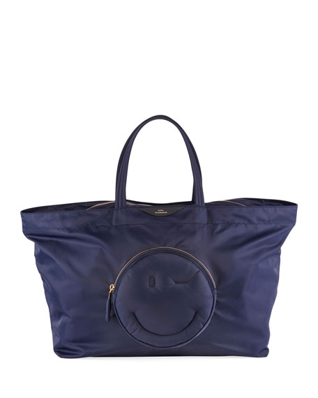 Anya Hindmarch East-West Large Chubby Wink Tote Bag