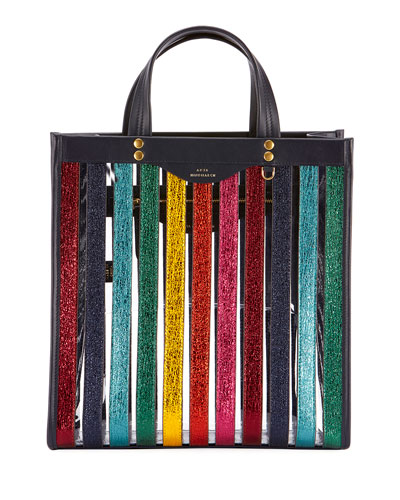 Mini Multicolor Striped Tote Bag