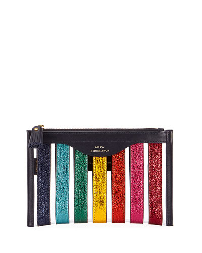 Multi Stripes Loose Pocket Pouch/Wallet