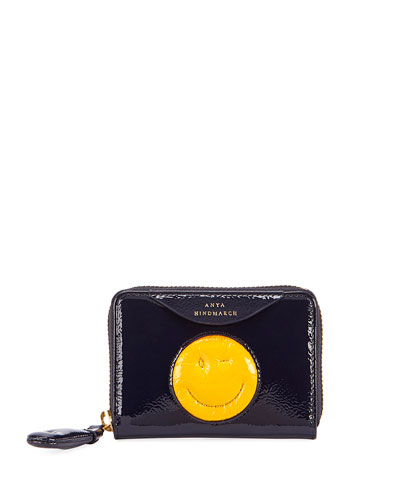 Small Chubby Wink Zip-Around Wallet
