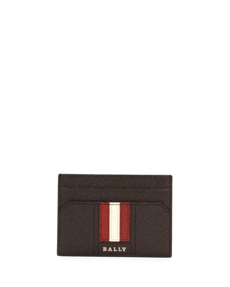 Bally Men's Taclipos Leather Money Clip Card Case