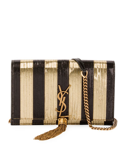 Kate Chain Striped Sequin Wallet