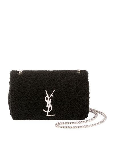 Kate Monogram Small Shearling Crossbody Bag
