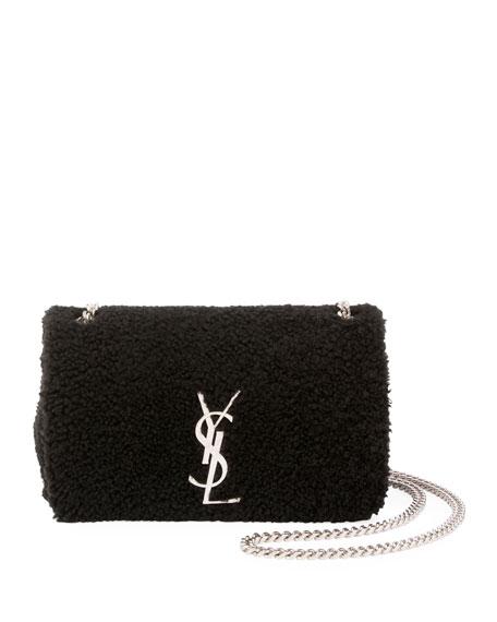 Saint Laurent Kate Monogram Small Shearling Crossbody Bag
