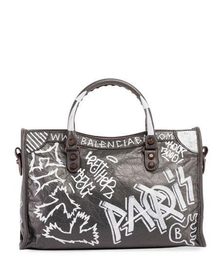 Classic City AJ Small Graffiti Satchel Bag