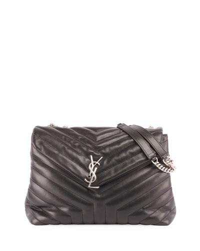 Loulou Monogram Medium Chain Shoulder Bag