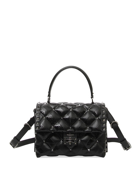 Candystud Quilted Top Handle Bag