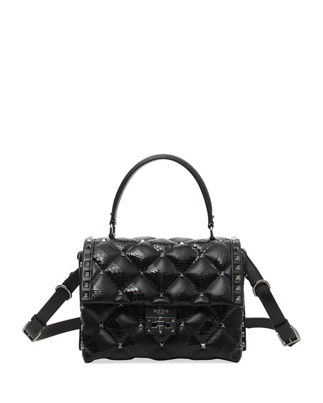Image 1 of 1: Candystud Quilted Top Handle Bag
