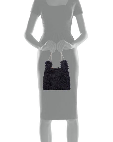 Furry Mini Shopper On A Chain Tote Bag