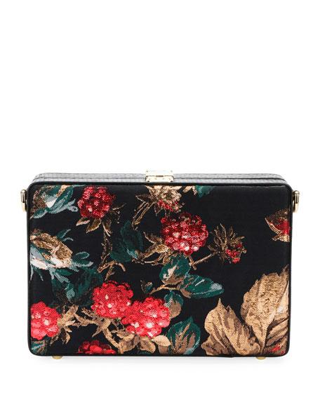 Dolce Box Snakeskin and Floral Shoulder Bag