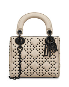 Lady Dior Semi Structured Mini With Flap And Block Charms by Dior