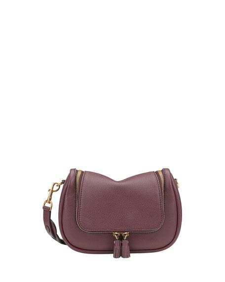Vere Small Soft Satchel Bag, Dark Red