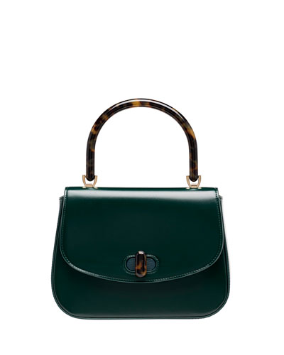 Mini Calf Box Top Handle Bag