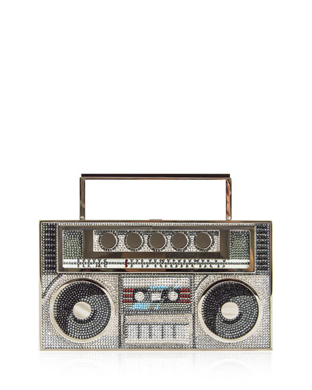 Judith Leiber Couture Boom Box Crystal Clutch Bag
