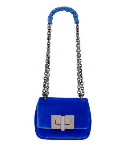 Natalia Small Soft Velvet Shoulder Bag