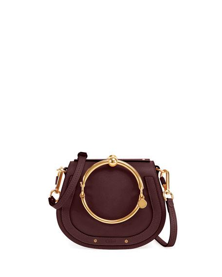 Chloe Nile Small Leather Ring-Handle Satchel Bag