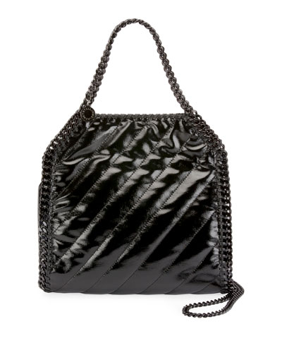 Falabella Shiny Quilted Tote Bag