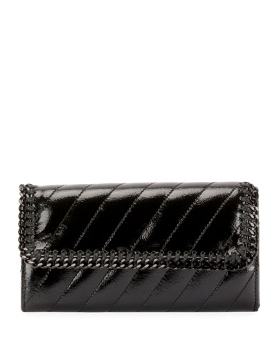 Falabella Quilted Alter Napa Continental Flap-Top Wallet