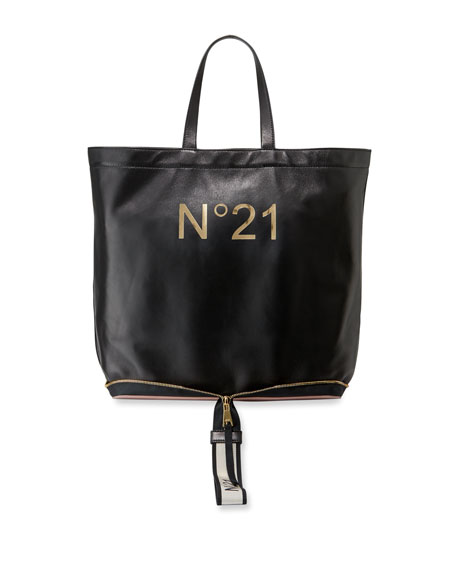No. 21 Leather Big Foldable Shopping Tote Bag 66800938da62d