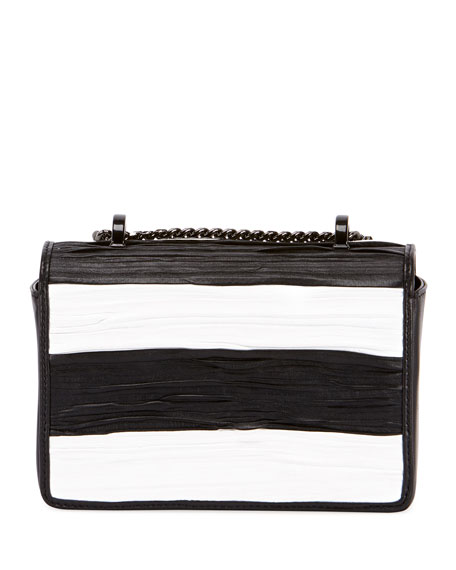 Baby Box Striped Shoulder Bag
