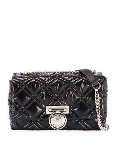 Box 25 Shiny Quilted Crossbody Bag