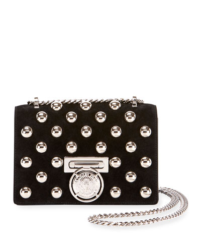 Box 20 Flap Pearl-Studded Shoulder Bag