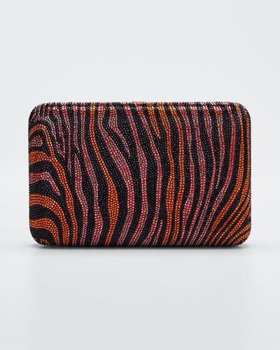 Seamless Zebra Crystal Clutch Bag