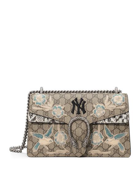 Medium Dionysus Gg Supreme & Genuine Snakeskin Shoulder Bag - Beige