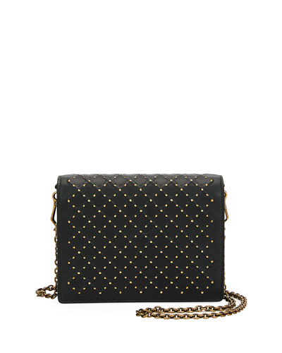 Cantena Stud Embellished Montebello Crossbody Wallet Bag