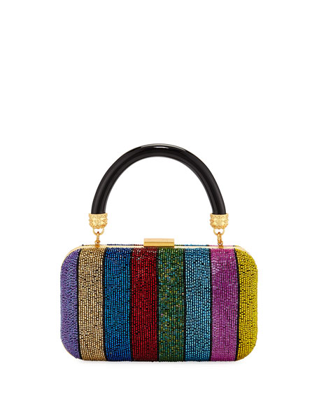 Alice And Olivia SHIRLEY RAINBOW LARGE CLUTCH BAG