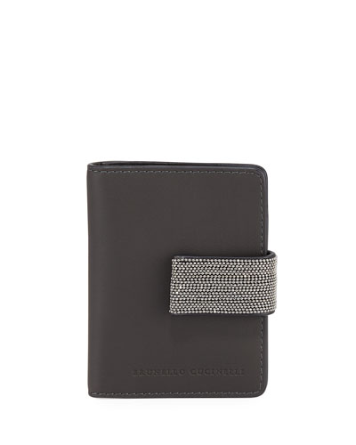 Mini Leather and Monili Card Holder