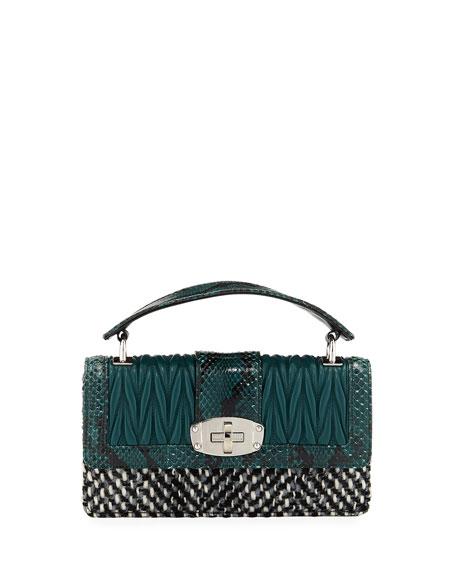 8bd0aeacacd4 Miu Miu Cleo Matelassé Top Handle Bag