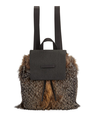 Fox Fur and Monili Backpack