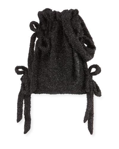 Tinsel Bow Drawstring Bucket Bag
