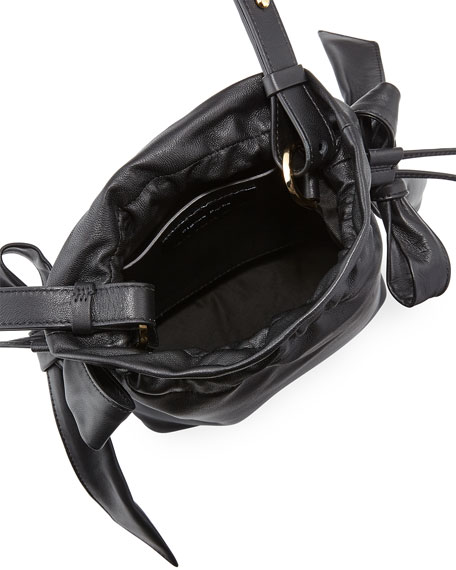 Simone Rocha Leather Bow Pouch Bag 7e8bf6e22146a